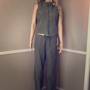 2 piece set Olive Green Jump suit Army  size small